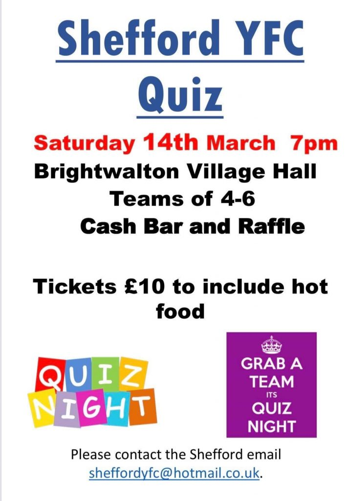 Quiz Night Hosted by Shefford YFC