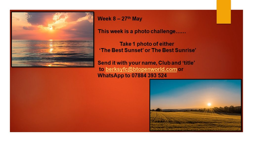 Wednesday 27th May County Virtual Challenge