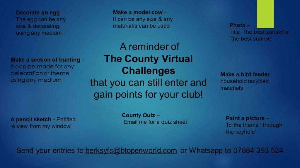 Wednesday 1st July County Virtual Challenge