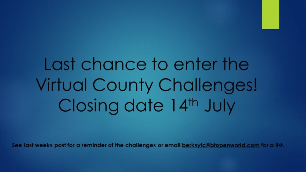 Wednesday 8th July County Virtual Challenge